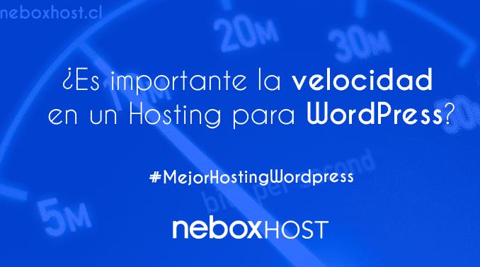 ¿Es importante la velocidad en un Hosting para WordPress?