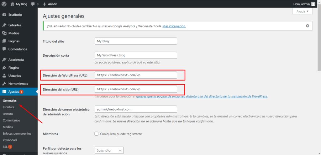 configurar ssl wordpress